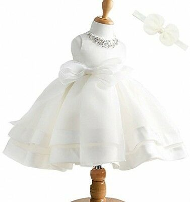 Baby Girl Dress Christening Baptism Gown Sequined Formal Dress 6-12 Months
