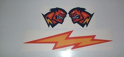 Xfl Orlando Rage Full Size Football Helmet Decals