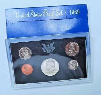 1969-S US Proof Set // 5 Coins Total // SILVER! // (P10)
