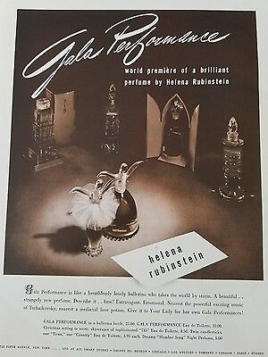 1940 Helena Rubinstein Gala performance perfume bottle figural ballet dancer ad
