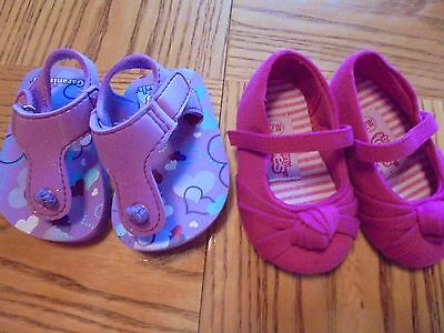 2 Pairs of Cute Baby Girl's Size 2 Sandals-Shoes Pink and Purple Sweet Deal
