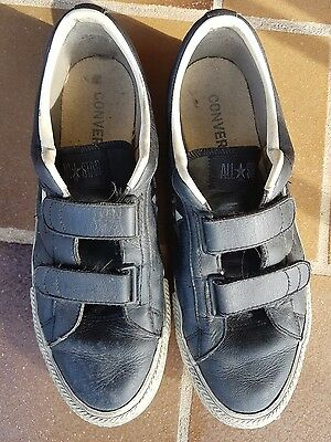 CONVERSE All Star Jack Purcells Black Leather Men's US9
