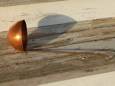 Antique Hammered Solid Copper Long Handle Soup or Sauce Ladle French Chef NICE!!