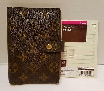 Authentic LOUIS VUITTON Agenda PM with Paper