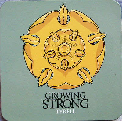 Official Game Of Thrones House Tyrell Coaster Golden Rose Sigil Growing Strong