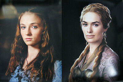 Game Of Thrones Sansa Stark Cersei 12 X 16 Two-Sided Poster Sophie Turner Headey