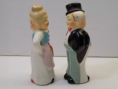 Vintage Turnabout Two Faced BEFORE AND AFTER MARRIAGE Salt & Pepper Shakers