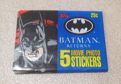 """1992 Topps """"Batman Returns (Stickers)"""" - Wax Pack (Collector's Mag Variation)"""