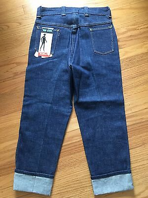 "Vintage 50-60s ""Top Gun"" Denim Jeans Pants High Rise Women Deadstock Tapered"