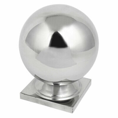 100mmx100mm Ball Cap 201 Stainless Steel Silver Tone for Stair Newel Fence Post