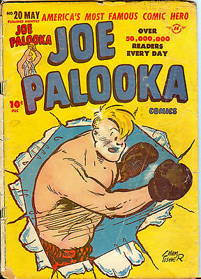 Joe Palooka Comics #20 (May 1948) Black Cat - 10¢ cover, Ham Fisher, Bob Powell