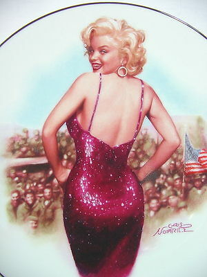 """MARILYN MONROE """"FOR our BOYS IN KOREA"""" ~Delphi Collector Plate with COA"""