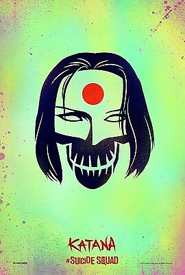 Suicide Squad Katana - A4 Glossy Poster - Film Movie Free Shipping #75