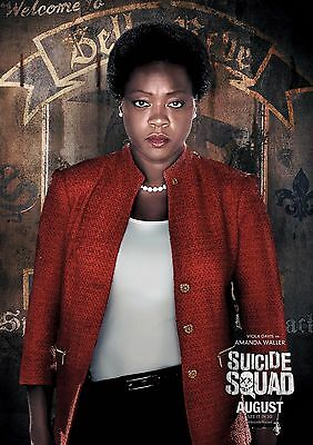 Suicide Squad Amanda Waller - A4 Glossy Poster -TV Film Movie Free Shipping #390