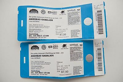 2 andreas gabalier karten m nchen olympiastadion tickets 1 eur 141 00 picclick de. Black Bedroom Furniture Sets. Home Design Ideas