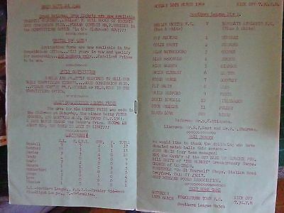 FOOTBALL 1969 Bexley United FC v Ramsgate Athletic FC Original Programme