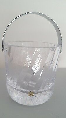 Vintage Dartington Crystal Ripple Ice Bucket - Frank Thrower -1981- Original Box