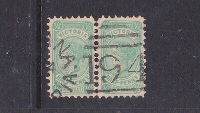 *VICTORIA.POSTMARKS on ½d GREEN BANTAM PAIRS.Numeral 194 of Dromana.*