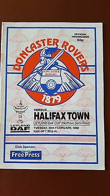 Leyland Daf Cup Northern Semi Final 1990 Doncaster Rovers V Halifax Town