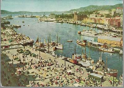 Bergen, Norway - Inner Harbour - postcard c.1970s