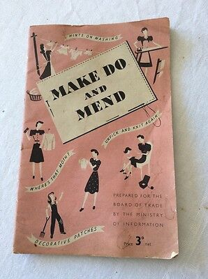 Vintage. Make Do And Mend. Handy tips by Board of Trade 1943