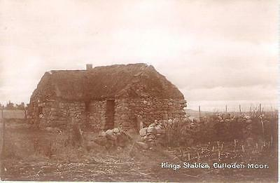 Culloden Moor, Highland - King's Stables -real photo postcard by Davidson c1930s