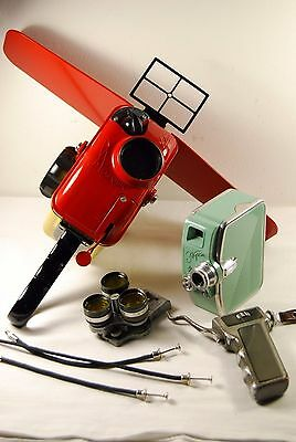 "Rare Vintage USSR Underwater housing box (NEVER USED) + 8mm movie camera ""EKRAN"""