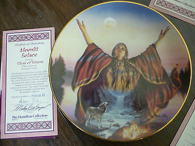 Moonlit Solace   from  Cloak of Visions plate collection  BOXED with  COA