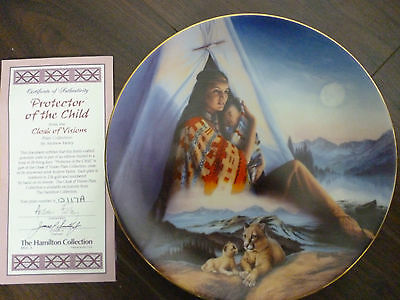 Protector of the Child from  Cloak of Visions plate collection  BOXED with  COA