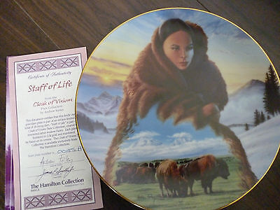 Staff of Life  from the Cloak of Visions plate collection BOXED with  COA