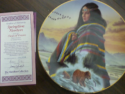 Springtime Hunters from the Cloak of Visions plate collection BOXED with  COA