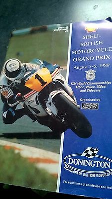 Official Programme From British Motorcycle Grand Prix 1989