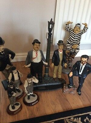 Laurel & Hardy, Charlie Chaplin , Marx Bro's Large figures Collection Figurines