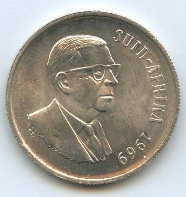 South Africa, Silver Rand, 1969, .800 silver (a)
