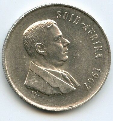 South Africa, Silver Rand, 1967,  .800 silver