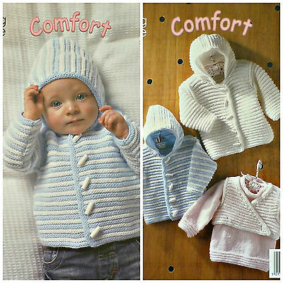 KNITTING PATTERN Baby Long Sleeve Jumper Jacket Body Warmer DK King Cole 3013