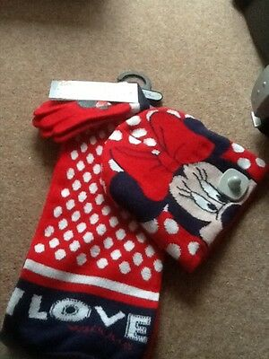 Minnie Mouse Scarf Set - Brand New