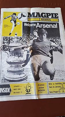 Notts County V Arsenal V Arsenal 1976/ 77 Season FA Cup  Magpie Newspaper Prog