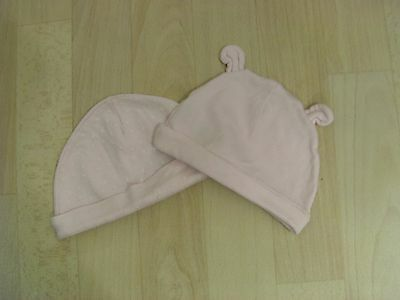 2 Baby girl pink hats cap 0-3 months excellent condition from Nutmeg