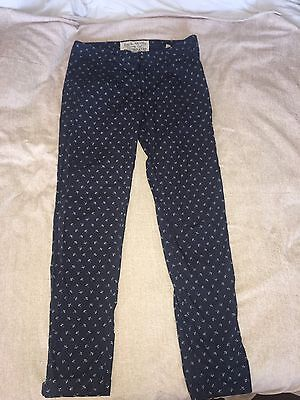Jack Wills Patterned Flower Trousers Size Uk 8 Ladies
