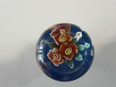 Old Lucite Car Auto Shift Knob Gear Shifter Flower #4