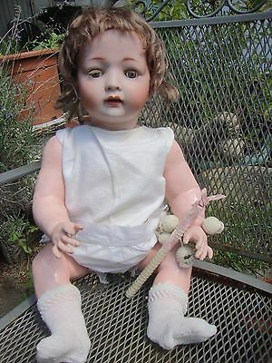 ANTIQUE KONIG AND WERNICKE GERMAN CHARACTER BABY PORCELAIN DOLL EARLY 1900s