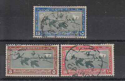 Egypt 1927 A Good Used Cotton Congress Set SG145/147