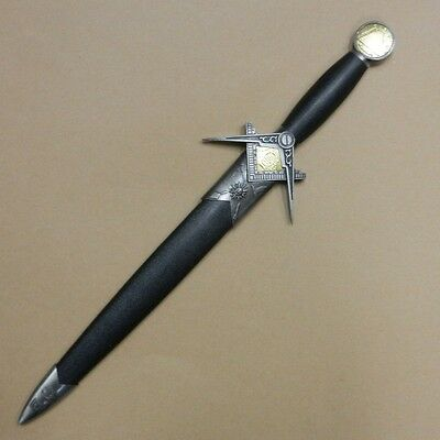 Masonic Dagger Short Sword Square & Compass with Freemason Mason Symbols (Z602)7