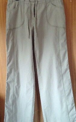 Marks and Spencer Ladies Cotton Trousers 14 L
