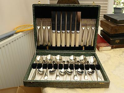 Vintage 24 Cased Afternoon Tea Cutlery Knives, Forks And Spoons   #1270793/800