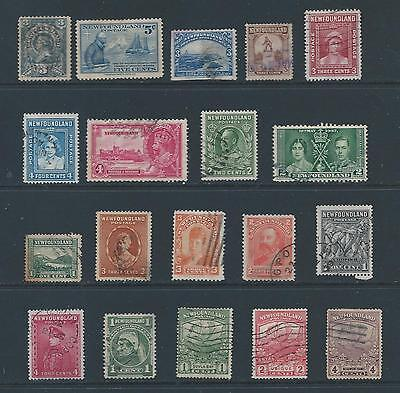 Newfoundland: small selection of Fu stamps