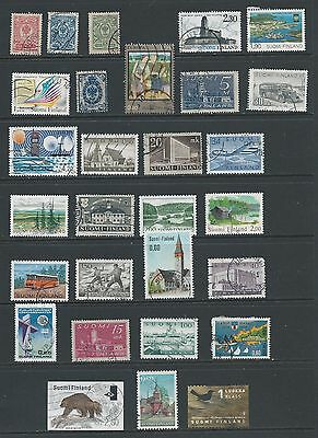 Finland: nice FU selection of stamps