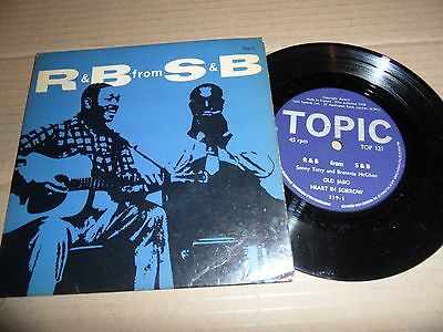 SONNY TERRY & BROWNIE McGHEE R & B From S & B  Blues Guitar Harmonica TOPIC EP
