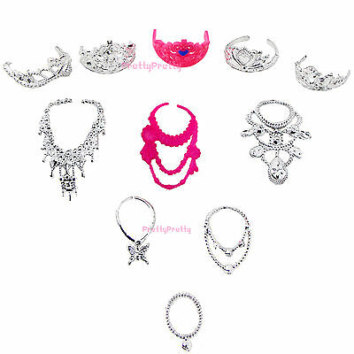 Beauty Royal Plastic Accessories Necklace Crown Clothes For Barbie Doll Gift 59